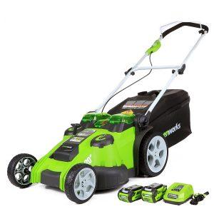 greenworks gmax 40v electric lawn mower
