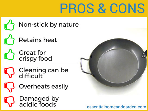 carbon steel cookware pros and cons