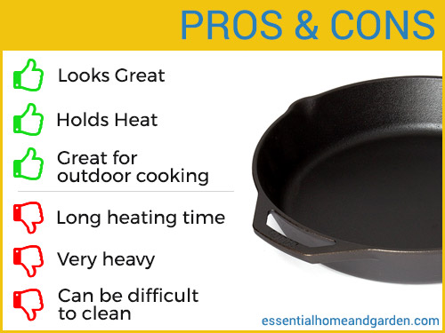 cast iron cookware set pros and cons