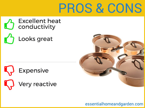 copper cookware pros and cons