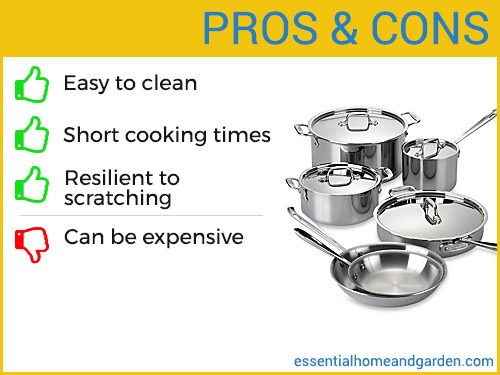 stainless steel cookware set pros and cons