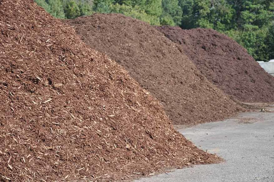 large delivery of mulch