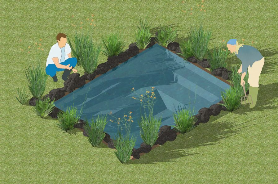 installing a flexible liner pond