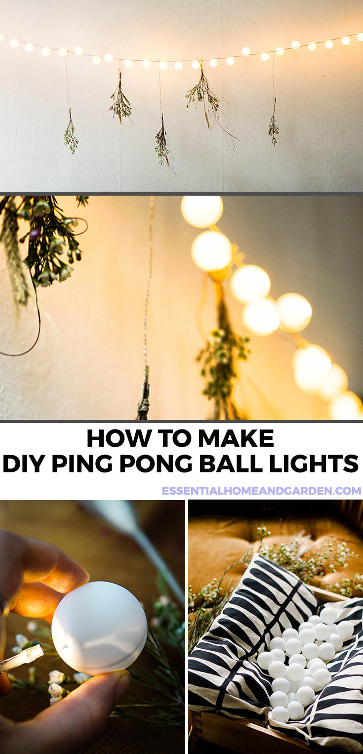 how to make ping pong ball lights