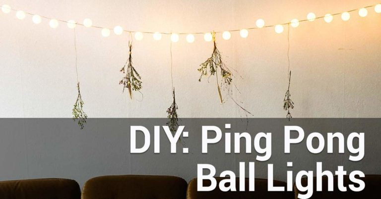 diy ping pong ball lights