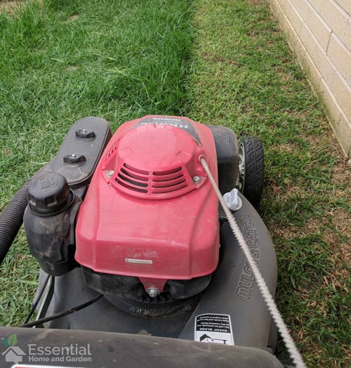 how to mow a large lawn