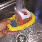 how to clean moldy bath toys