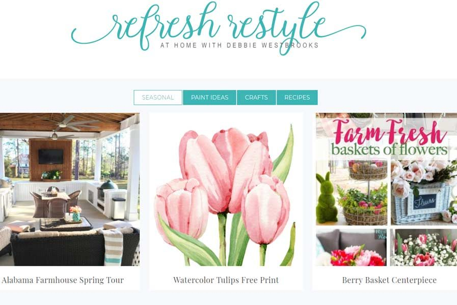 refresh restyle blog