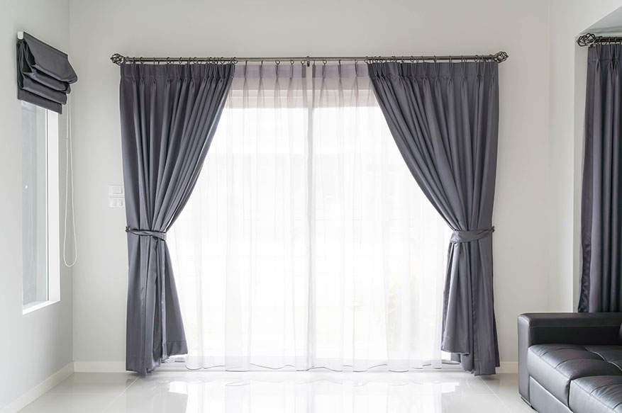 avoid heavy curtains