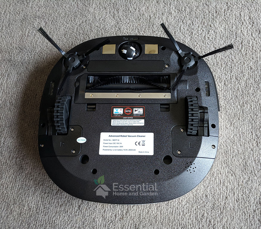 Minsu Robotic Vacuum from bottom