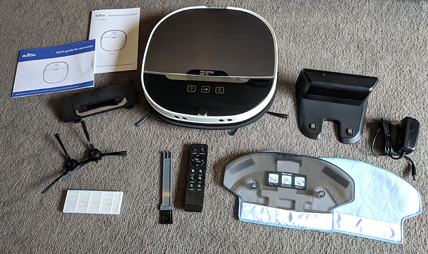 Minsu NV01 Robotic Vacuum Box Contents