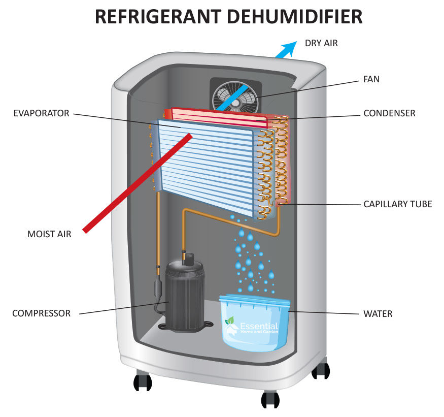 how a regrigerant dehumidifier works