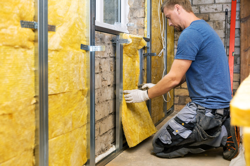 insulating basement wall