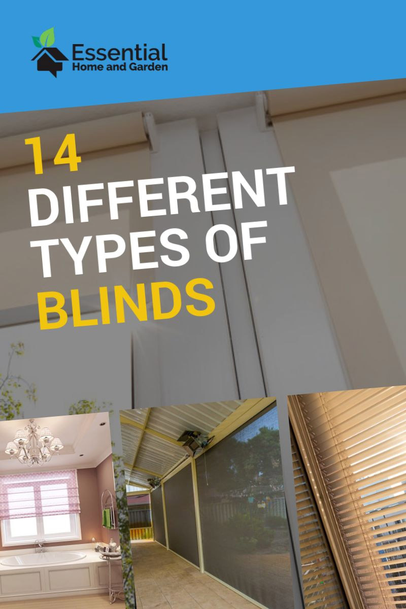 types of shades and blinds
