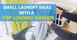 top loading washer in small laundry