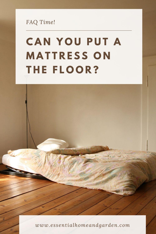mattress on floor pinterest