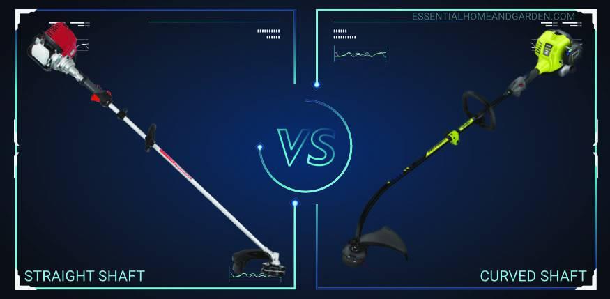 straight shaft vs curved shaft string trimmer