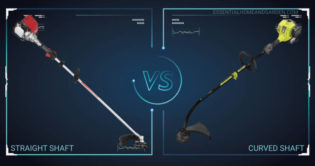 straight shaft vs curved shaft trimmer