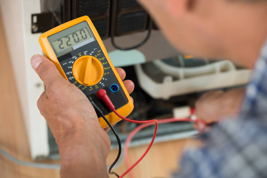 fridge repair using a multimeter