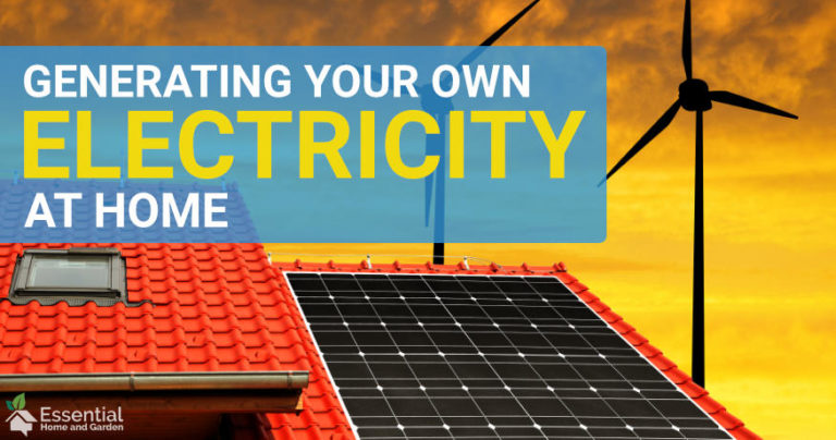 how to generate electricity at home