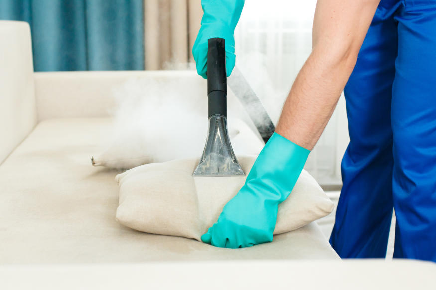 steam cleaning a pillow