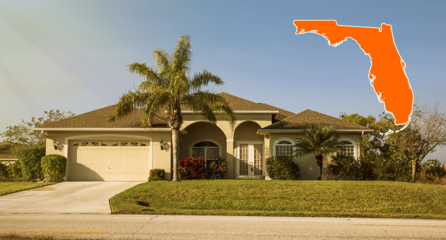 house in florida with map overlay