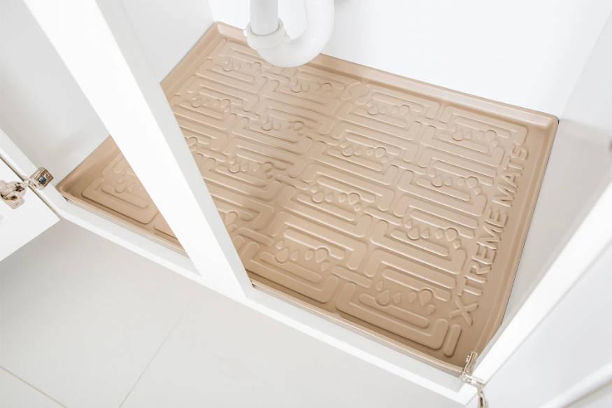 undersink mat waterproofing cabinets