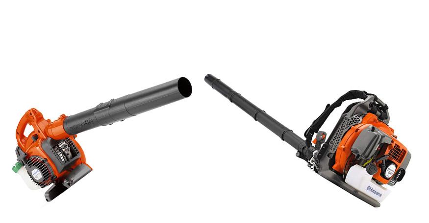 back pack and handheld leaf blower