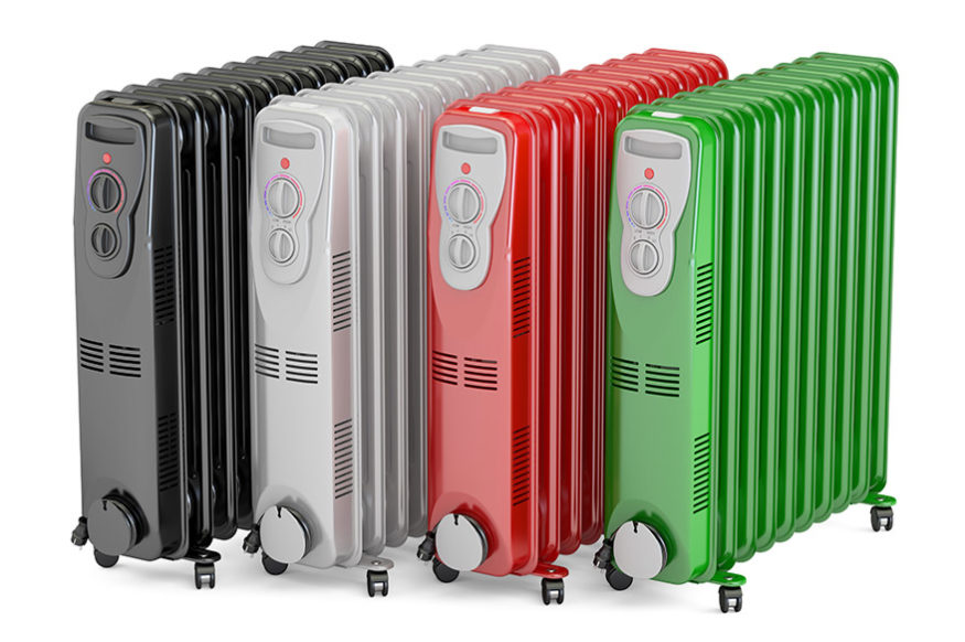 selection of oil filled heaters