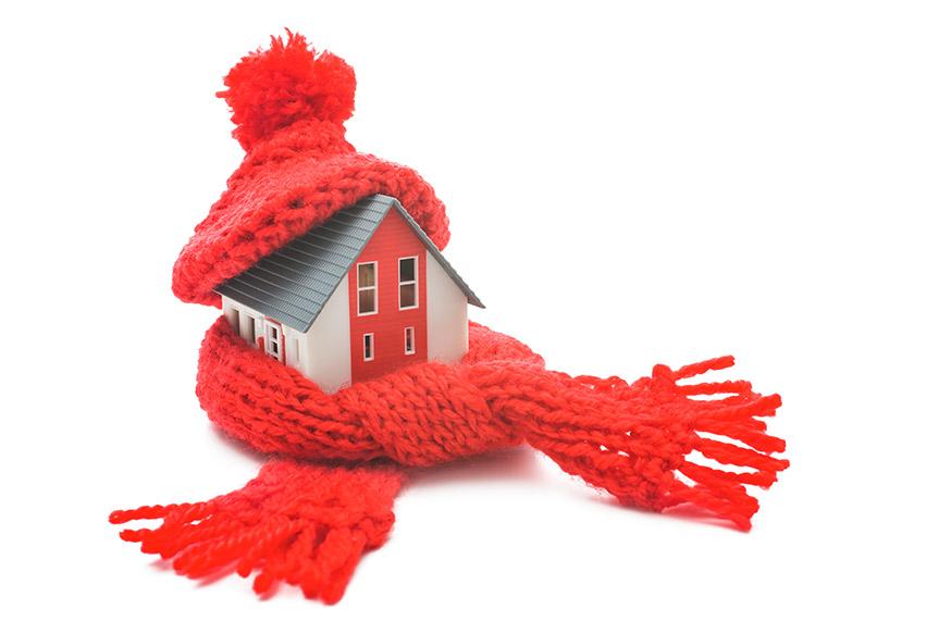 warm efficient house