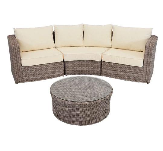 sunnydaze wicker sofa set