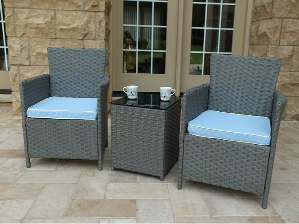 Andover Mills Pendergast 3 Piece Rattan Seating Group