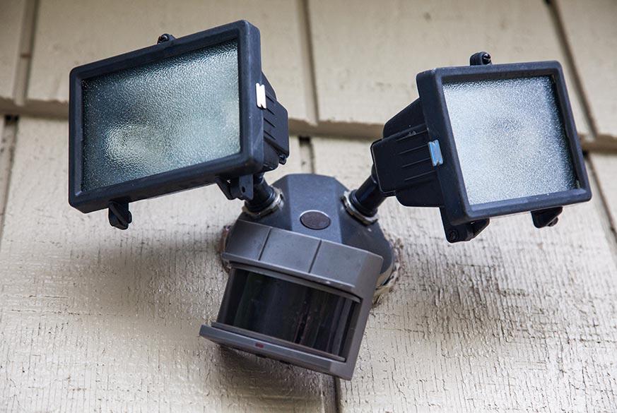 sensor light on garden shed