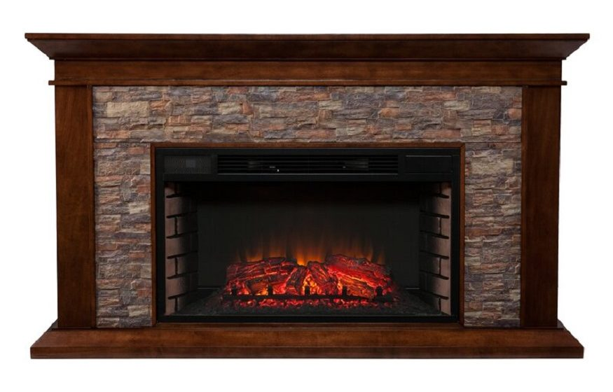 Darby Home Co. Trommald Simulated Electric Fireplace