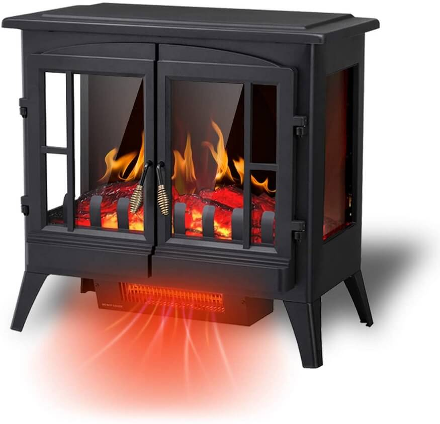 rw flame electric fireplace infrared heater