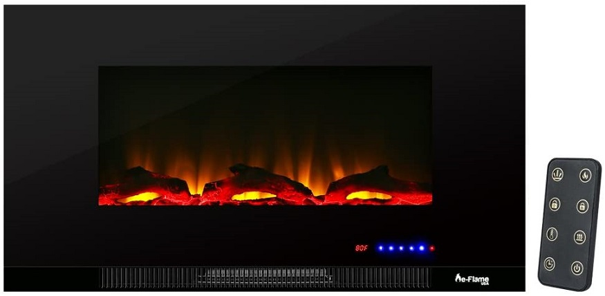 e-Flame USA Livingston Wall Mounted Electric Fireplace