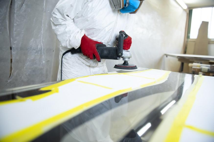 polishing epoxy resin countertop