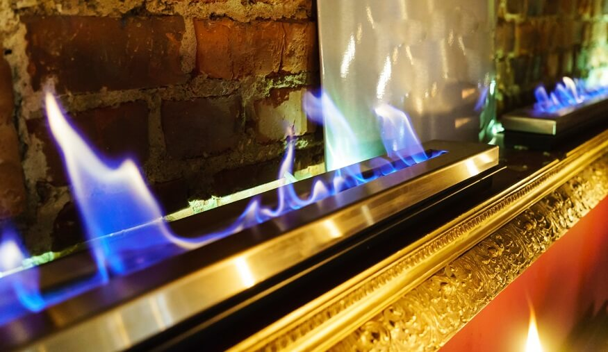 electric fireplace flames
