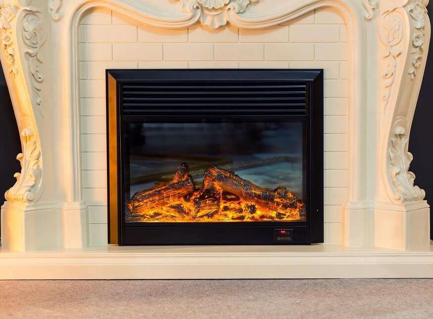 electric fireplace insert for home heating