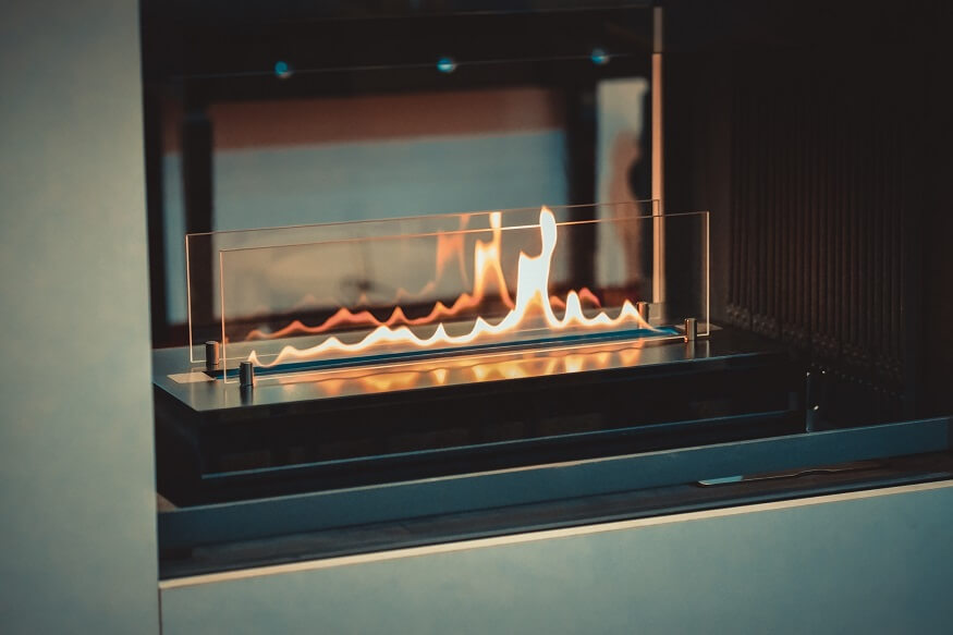 fireplace running on ethanol gas