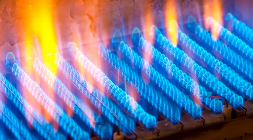 pilot light from gas fireplace burner
