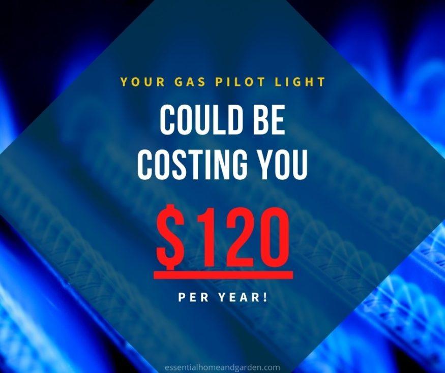 gas pilot light cost to run
