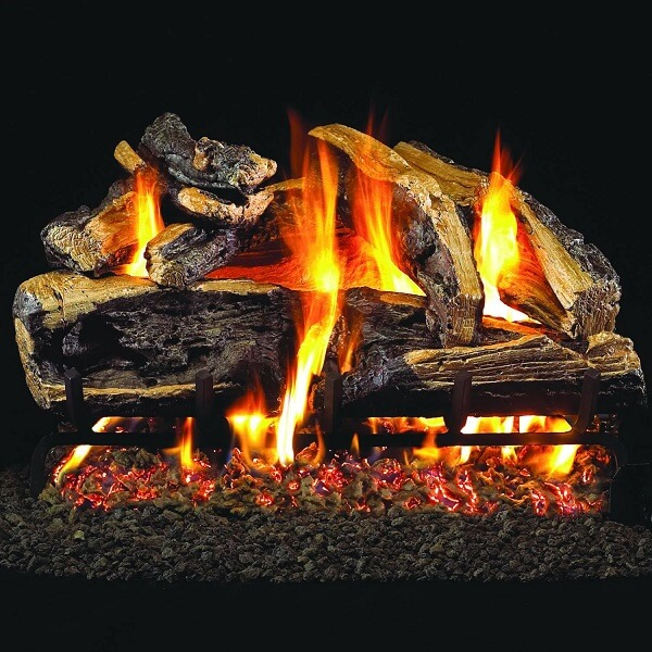Peterson Real Fyre Gas Log and Burner Set