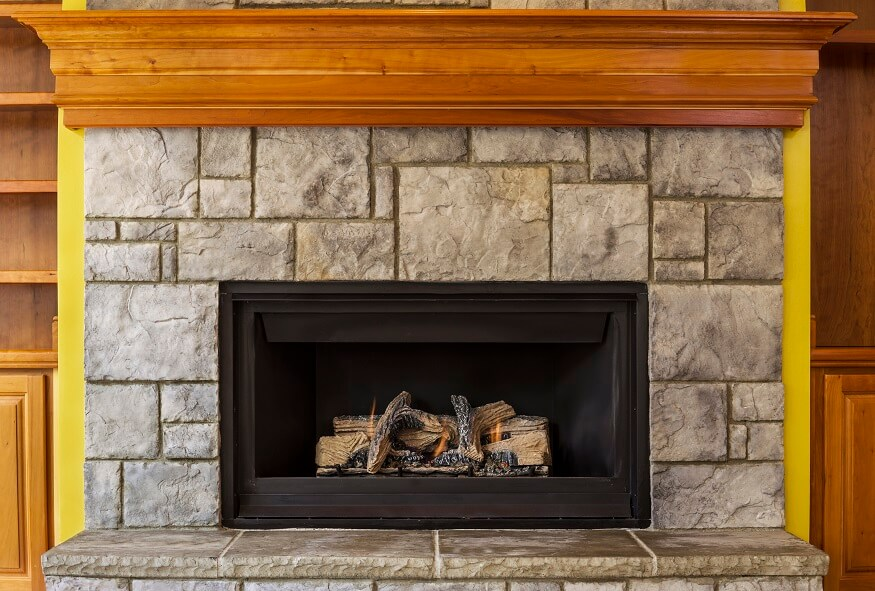 using a natural gas insert fireplace in the living room