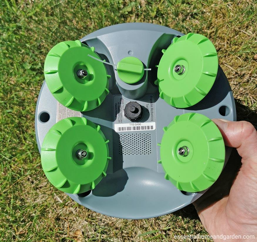 underside of tertill weeding robot
