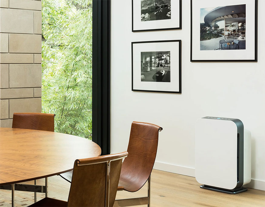 air purifier in dining room