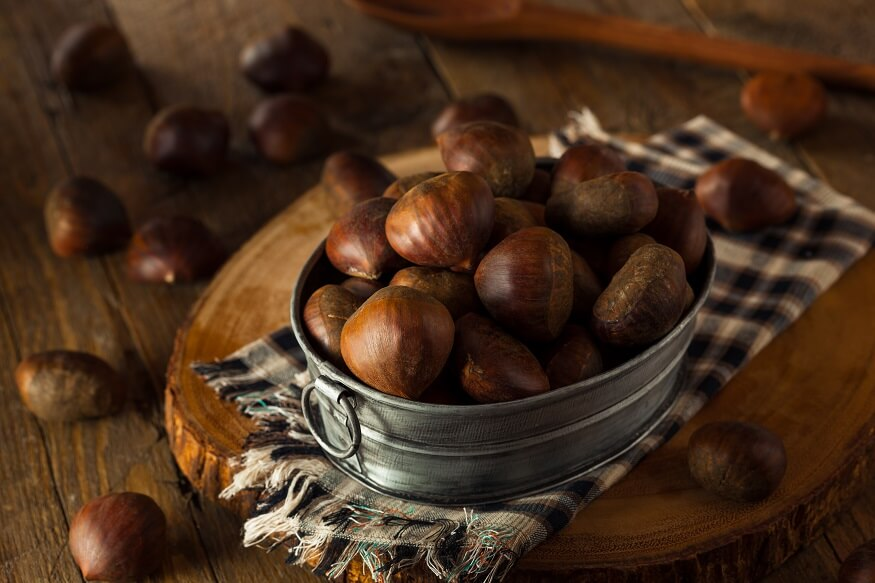 chestnuts inside a container