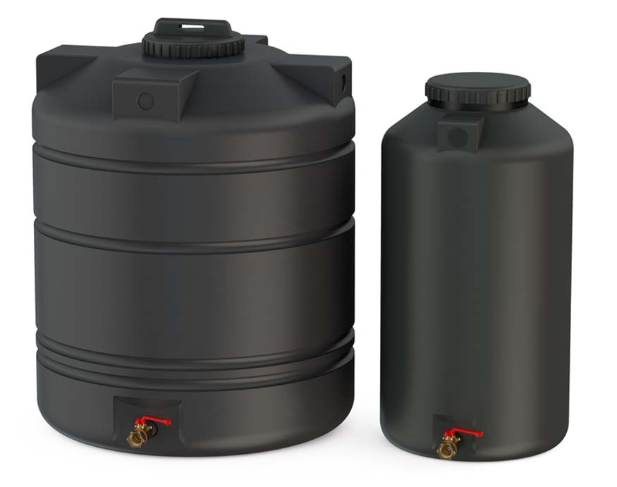 using water barrels inside a greenhouse