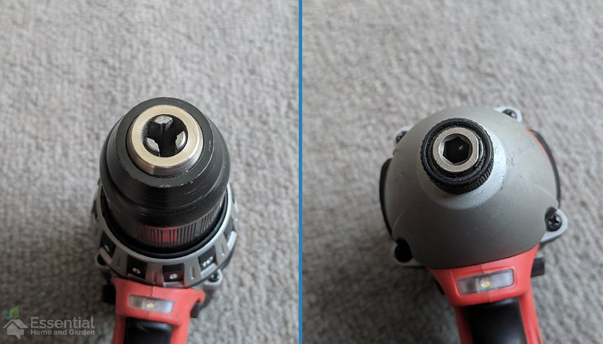 drill and impact driver chuck