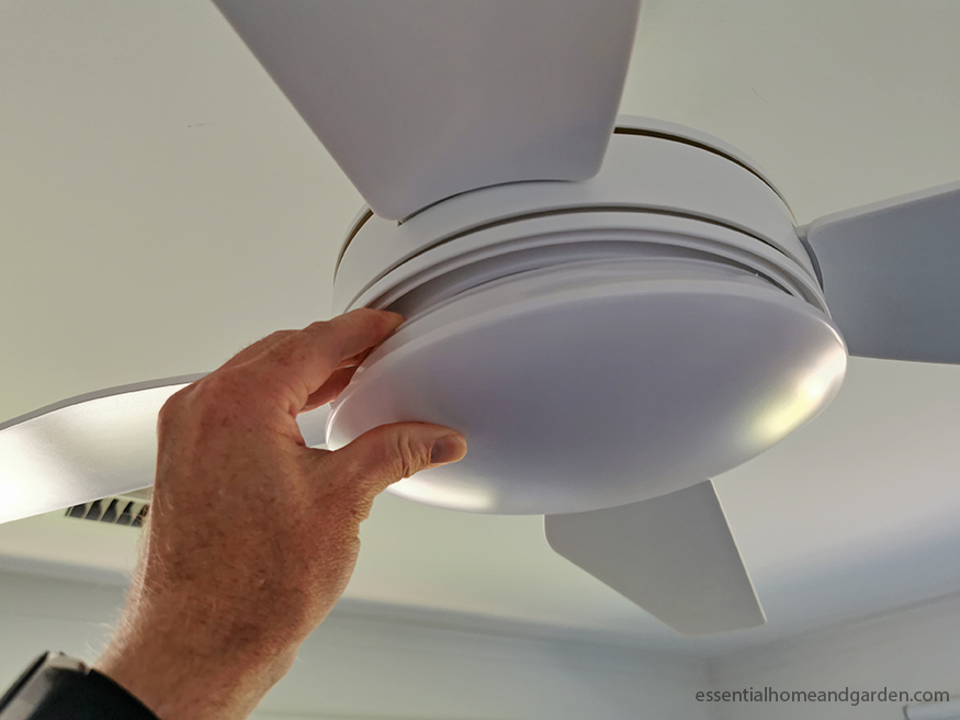 checking noisy ceiling fan light cover